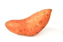 Sweet potato or batata (Ipomoea batatas). Isolated in front of white background stock photography