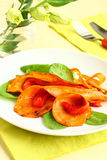 Sweet potato  and bell pepper Stock Photo