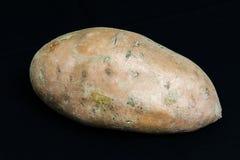 Sweet Potato on Black Stock Photos