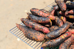 Sweet potato burn Stock Photo