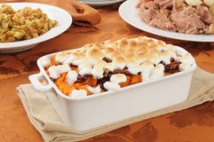 Sweet potato casserole Stock Photography