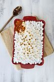 Sweet Potato Casserole with Marshmallows Royalty Free Stock Images