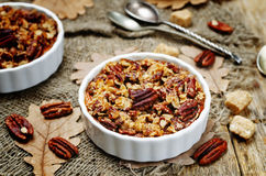 Sweet Potato Casserole with Pecan oat crumbs Royalty Free Stock Photos