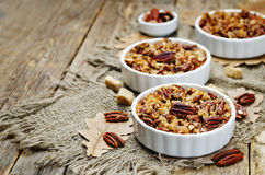 Sweet Potato Casserole with Pecan oat crumbs Stock Photo