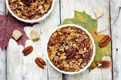 Sweet Potato Casserole with Pecan oat crumbs Royalty Free Stock Image