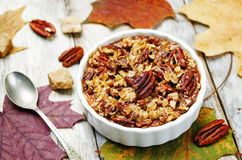 Sweet Potato Casserole with Pecan oat crumbs Royalty Free Stock Images