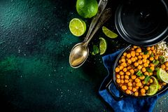 Sweet Potato and Chickpea curry royalty free stock photography