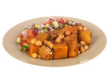 Sweet Potato with Chickpea Salad Stock Photo
