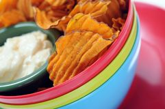 Sweet potato chip Royalty Free Stock Photo