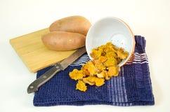Sweet potato chips Stock Photos