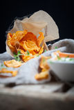 Sweet potato chips Stock Photography