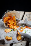 Sweet potato chips Stock Images