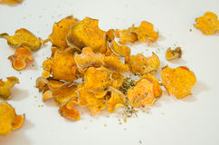Sweet potato chips Royalty Free Stock Images