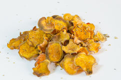 Sweet potato chips Royalty Free Stock Photos