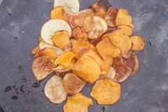 Sweet potato chips Stock Photo