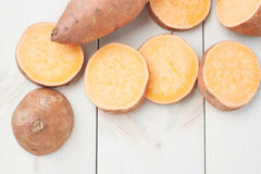 Sweet potato composition Royalty Free Stock Photography