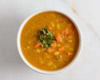 Sweet potato and corn soup Stock Photo