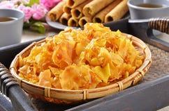 Sweet potato crisp Stock Photos
