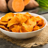 Sweet Potato Crisps Royalty Free Stock Photos