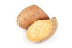 Sweet Potato Cut in Half Royalty Free Stock Image