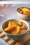 Sweet Potato Dessert. With mood lighting Royalty Free Stock Images