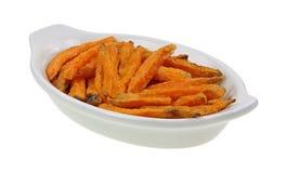 Sweet Potato French Fries Baked Royalty Free Stock Photo