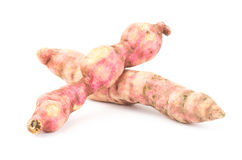 Sweet potato. Fresh sweet potato on white background Stock Photo