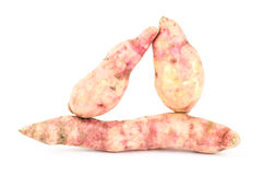 Sweet potato. Fresh sweet potato on white background Royalty Free Stock Image