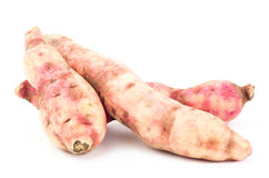 Sweet potato. Fresh sweet potato on white background Royalty Free Stock Photos