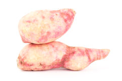Sweet potato. Fresh sweet potato on white background Stock Photos