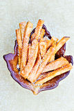Sweet potato fries Royalty Free Stock Photos