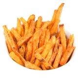 Sweet Potato Fries. On white Royalty Free Stock Photography