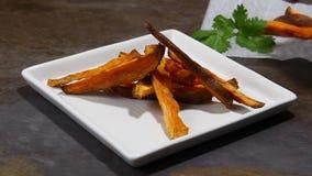 Sweet potato fries stock video