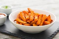 Sweet potato fries Stock Photos