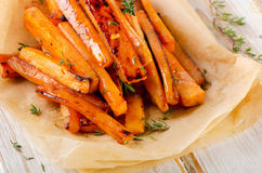 Sweet potato  with  herbs . Royalty Free Stock Images