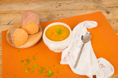 Sweet potato hot soup Royalty Free Stock Image