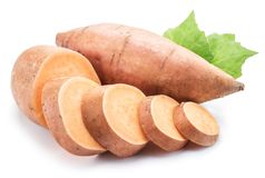 Sweet potato. Isolated on a white background.  stock photos