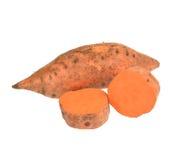 Sweet potato isolated on white background Royalty Free Stock Images