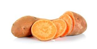 Sweet potato isolated on the white background Royalty Free Stock Image