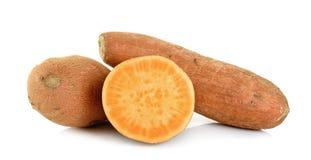 Sweet potato isolated on the white background Stock Image