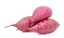 Sweet potato isolated on the white background Stock Photos