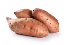 Sweet potato isolated on a white background. With clipping path Stock Photos