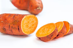 Sweet Potato Isolated on White Light Background Royalty Free Stock Photos