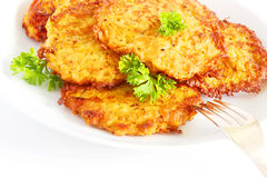 Sweet potato latkes Stock Photo
