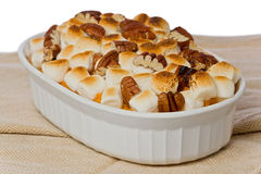 Sweet Potato with Marshmallows Stock Photography
