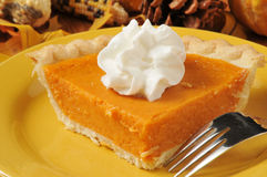Sweet potato pie closeup Stock Photography