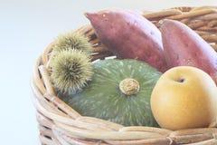 Sweet potato , pumpkin ,Chestnut Royalty Free Stock Photos