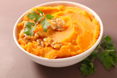 Sweet potato puree Royalty Free Stock Image