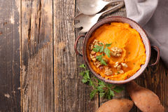 Sweet potato puree Royalty Free Stock Photos
