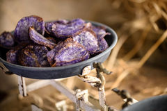 Sweet potato purple chips Stock Image